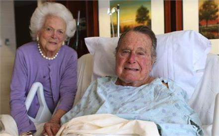george h w bush out of icu recovering well at houston hospital