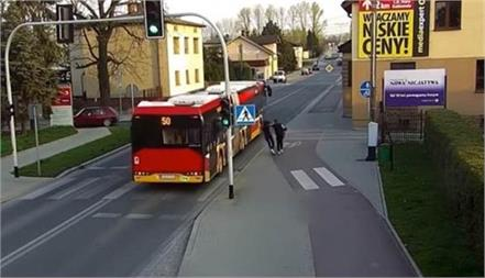 cctv captures woman pushing friend under bus in poland
