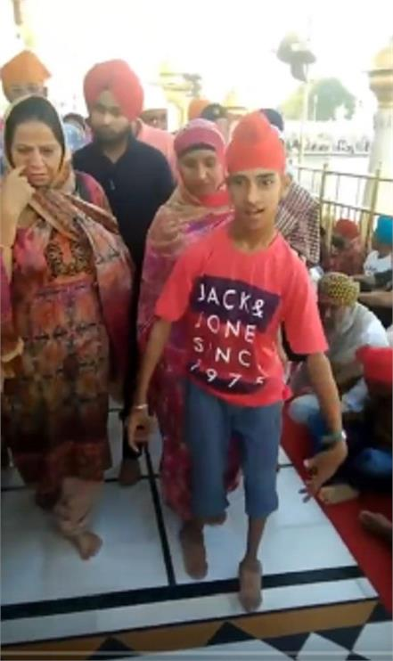 miracle in shri harimandir sahib handicapped started walking