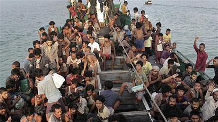76 rohingya refugees rescued after drifting at sea for 9 days