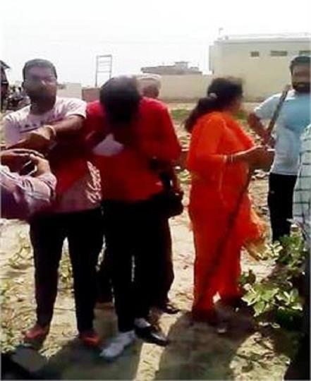 people beat young girl and boy