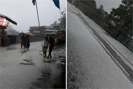 heavy rain hail storm in shimla