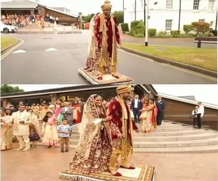 uk groom entry like aladdin in wedding viral video