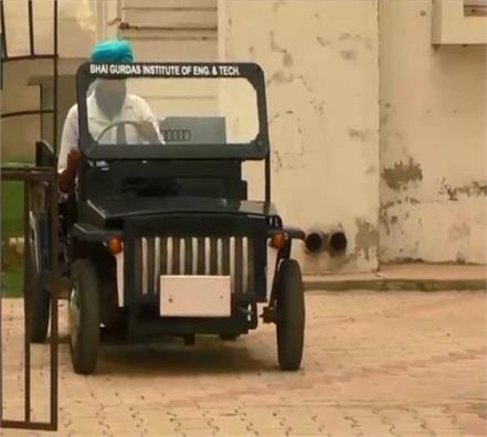sangrur student made smart car