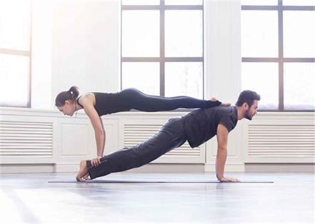 for increase love and health do this yoga with partner