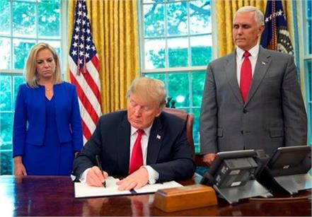 trump signed a order to end families separation