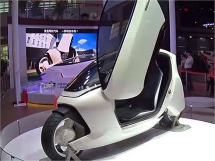 two wheeled electric car of the future is being tested in china
