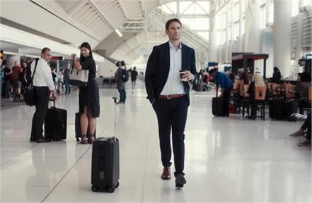 motorized ai powered suitcase keeps its eyes on its owner