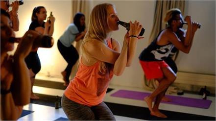 international yoga day beer yoga video viral