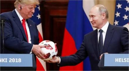 putin s football gift to trump gets routine security check
