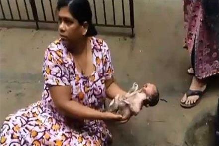 newborn baby found flowing in drain