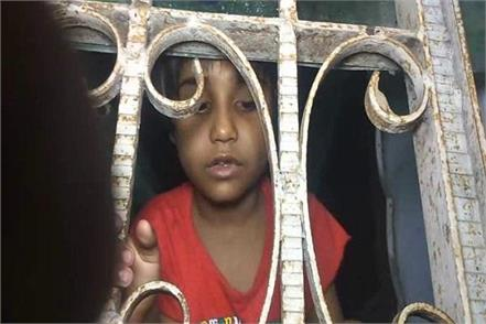 innocent child was imprisoned in the house by her father police rescued