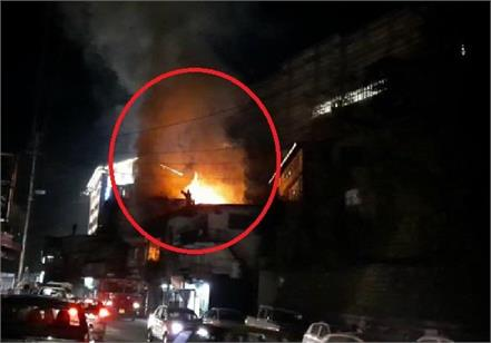 horrific fire near victory tunnel of shimla