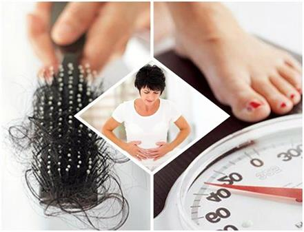 weight gain and hair fall are the sign of this disease