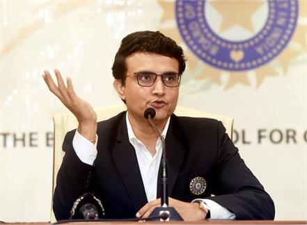 ganguly s first statement came as soon as bcci became president