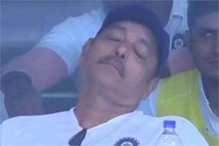 coach shastri strong reply to trolls of on sleep photo said i don t care