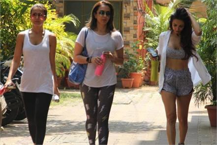 diva malaika arora seema khan and amrita arora spotted out side yoga class