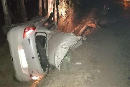 two died and three injured in road accident