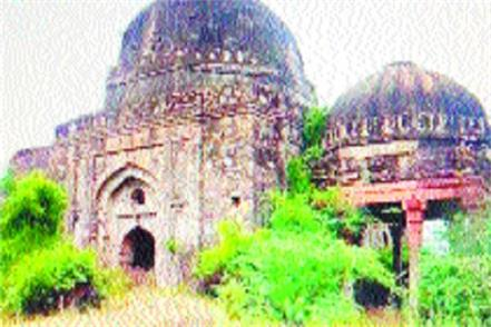 state red dome qutub khan mosque and palwal umbrella will be protected