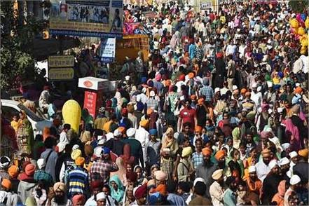 devotees gathered in dera baba nanak to visit kartarpur sahib