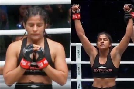 ritu phogat win mma debut fight knockout to opponent in 3 minutes