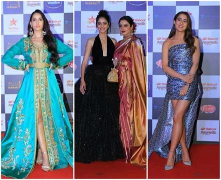 ranveer deepika and others celebs at star screen awards 2019
