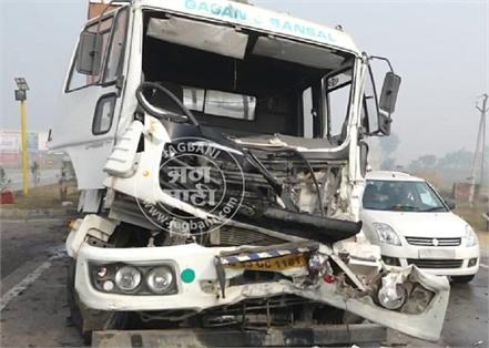 several vehicles collided in a road accident