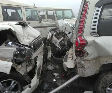 baghpat a horrific incident on the eastern peripheral expressway