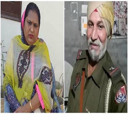 congress formar mla rajwinder kaur bhagike threatens asi kulwant singh