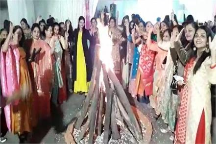 celebration of lohri in damoh