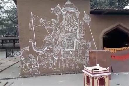 surajkund fair decorated on the lines of maharashtra culture
