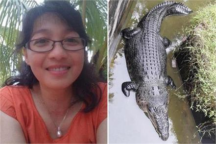 female scientist  eaten alive  by 17ft long crocodile in indonesia