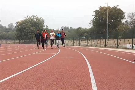 faridabad the dream of the players to play a synthetic track