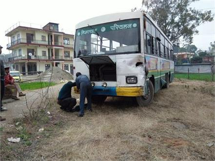 hrtc bus carrying 35 passengers could suddenly breakfail