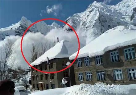 glacier dropped in gaushal village in lahaul