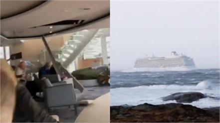 terrifying videos show titanic like experience after norway cruise