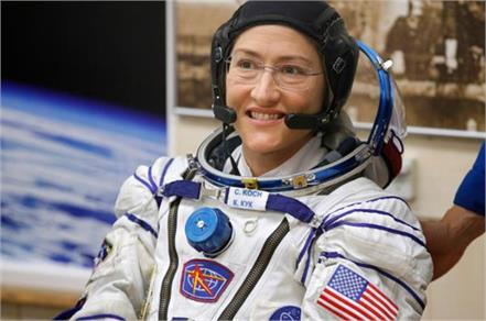 nasa astronaut christina koch aims for record setting space mission