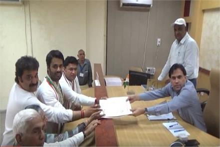congress nominee from hissar lok sabha bhishnoi filed nomination