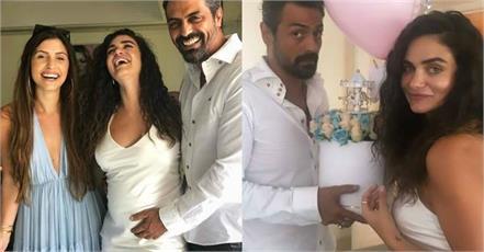arjun rampal girlfriend gabriella demetriadess baby shower