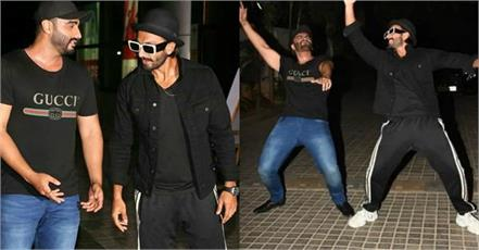 arjun kapoor ranveer singh at the screening of indias most wanted