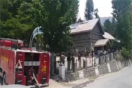 a fire in the evm strong room of kinnaur