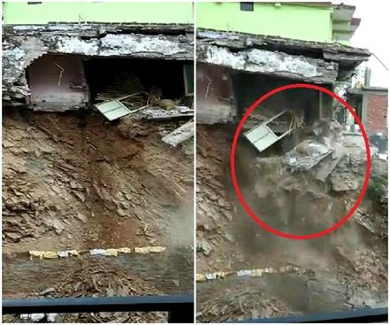 heavy rains in demolished house