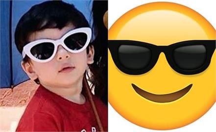 taimur ali khan cute pictures on world emoji day