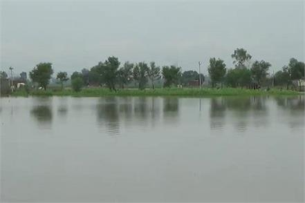 danger of flood in half a dozen colonies of kurukshetra