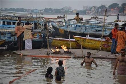 ganges water level towards red mark