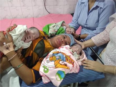 woman gave birth to 3 children on janmashtami