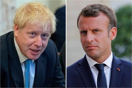 uk pm johnson to hold brexit talks with macron