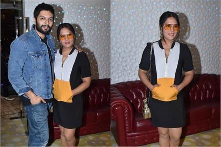 richa chadda attend prasthanam screening with boyfriend ali fazal