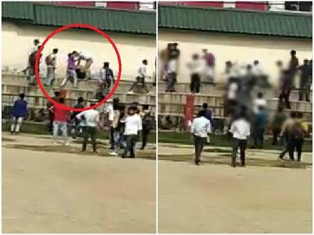 hamirpur school ground young man beaten