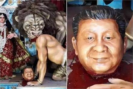 when mother durga killed xi jinping in place of asura